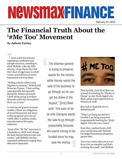 The Financial Truth About the '#Me Too' Movement