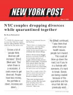 NYC couples dropping divorces while quarantined together