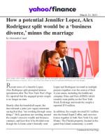 How a potential Jennifer Lopez, Alex Rodriguez split would be a 'business divorce,' minus the marriage